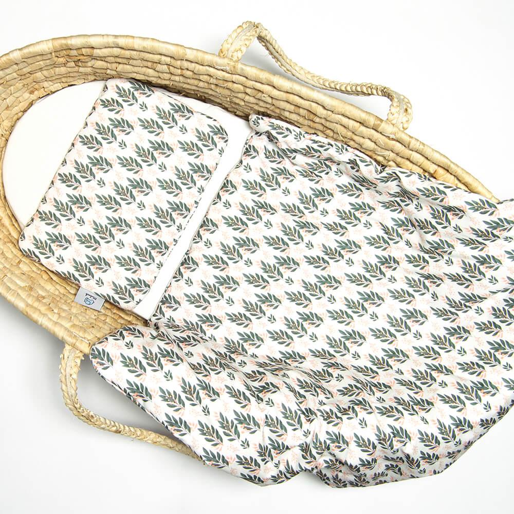 Image of Komplet pościeli z bawełny dla niemowląt 60x70 Flora